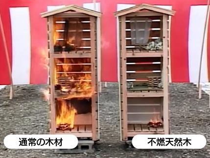 天然不燃木の効果